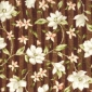 Floral Stripe Brown